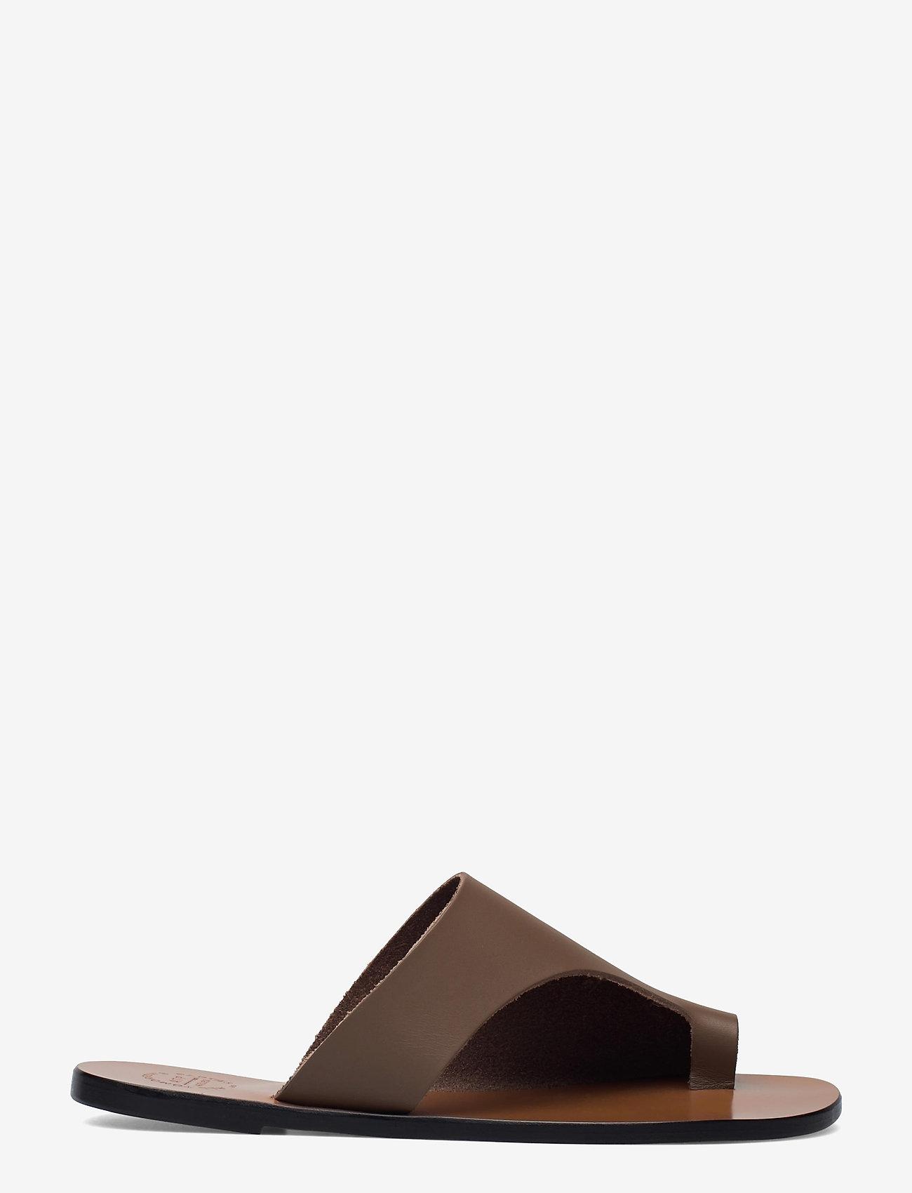ATP Atelier - Rosa Khaki Brown Vacchetta - platta sandaler - khaki brown - 1