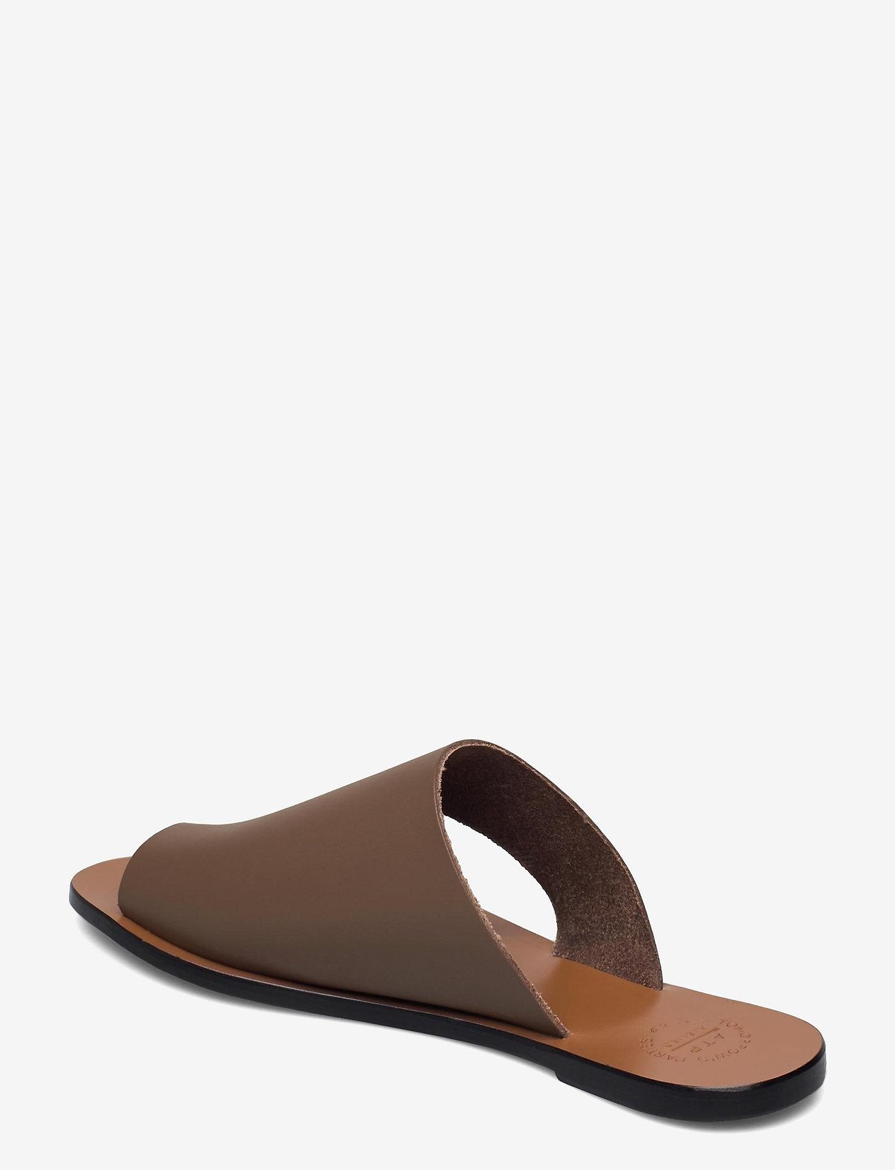 ATP Atelier - Rosa Khaki Brown Vacchetta - platta sandaler - khaki brown - 2