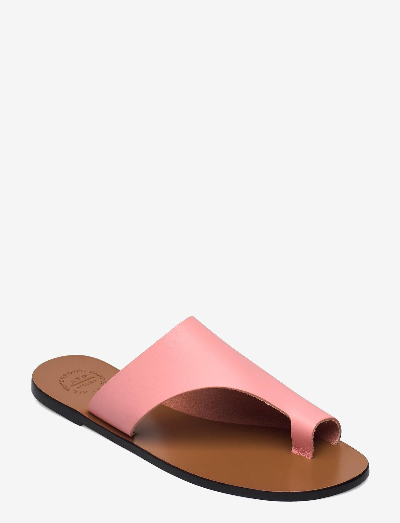 ATP Atelier - Rosa Candy Pink Vacchetta - płaskie sandały - candy pink - 0
