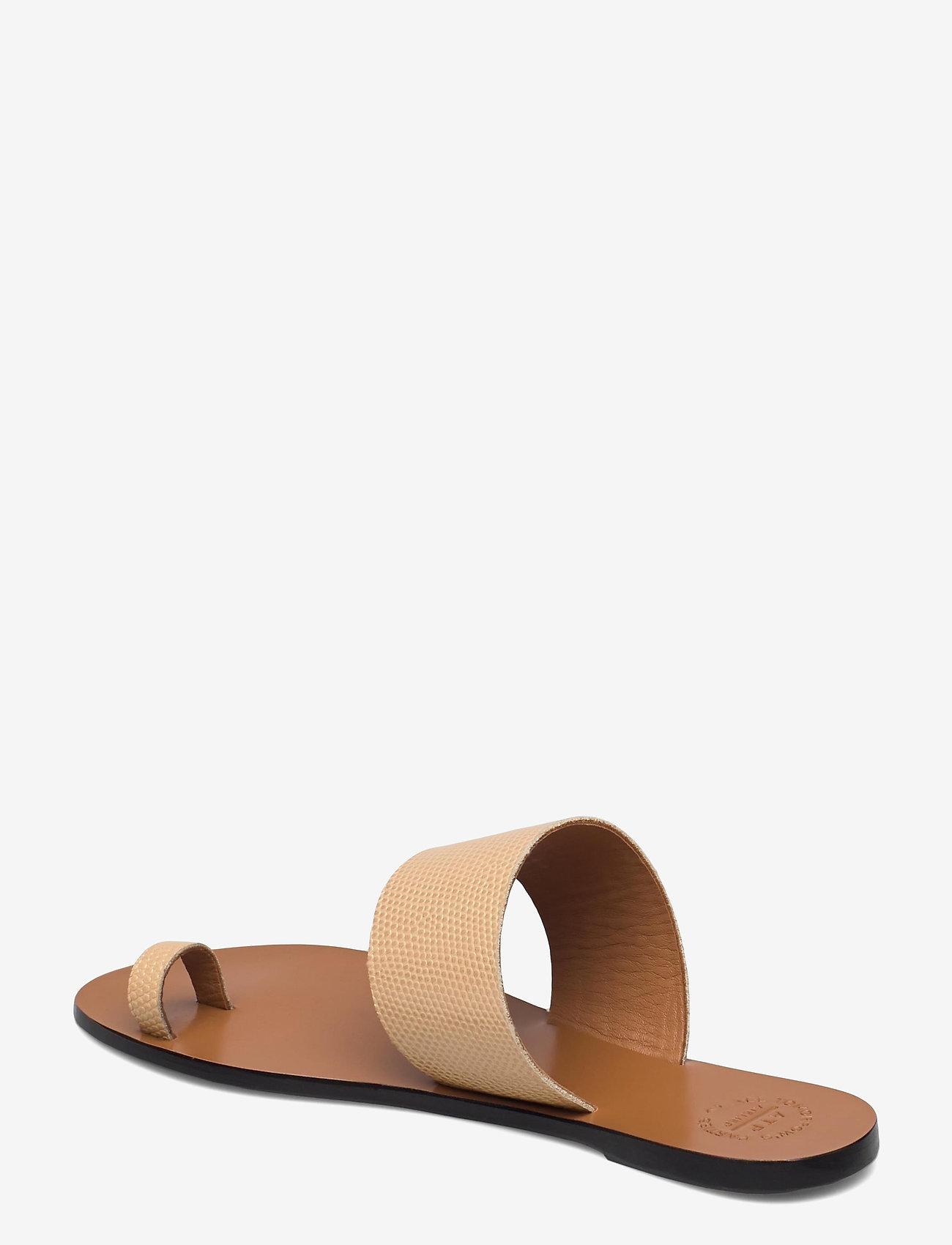 ATP Atelier - Astrid Light Beige Printed Watersnake - platta sandaler - light beige - 2