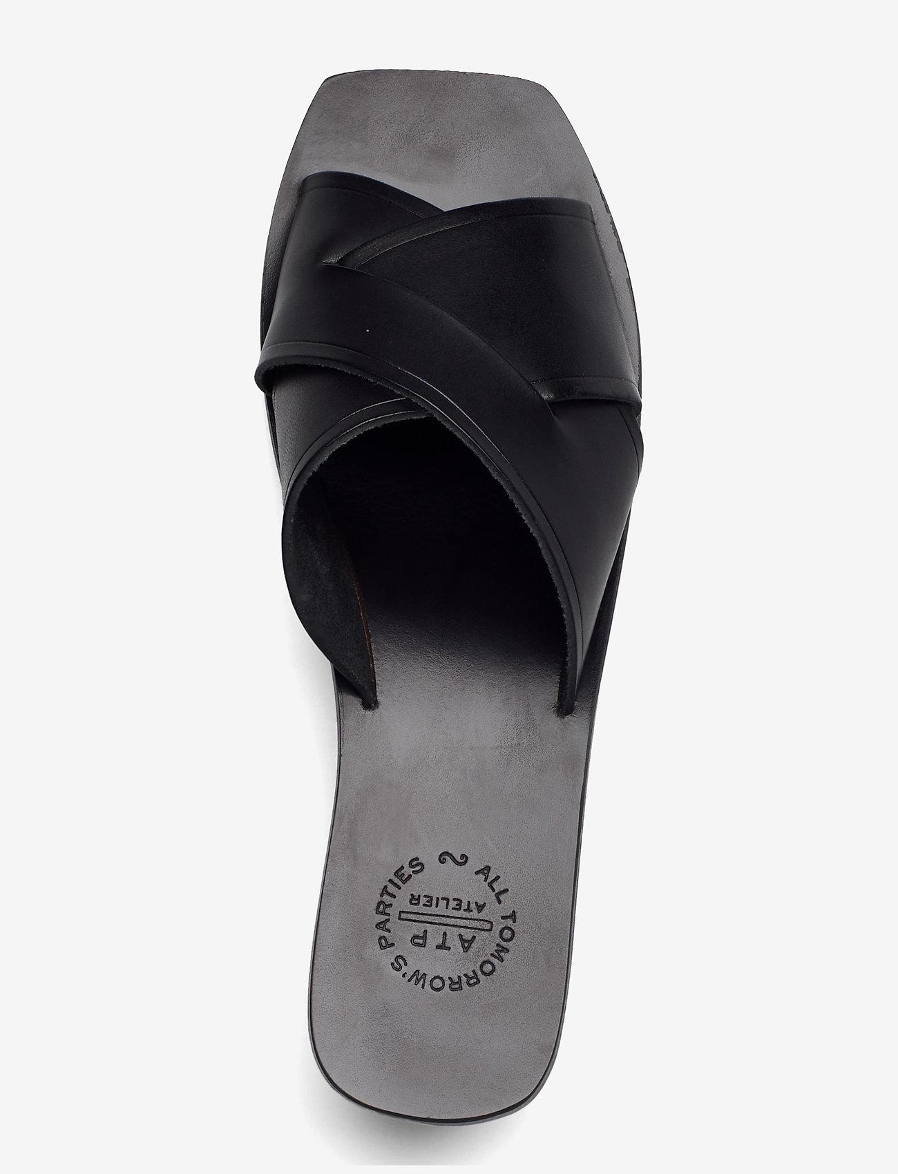 ATP Atelier - Stornarella Black Vacchetta - högklackade sandaler - black - 3