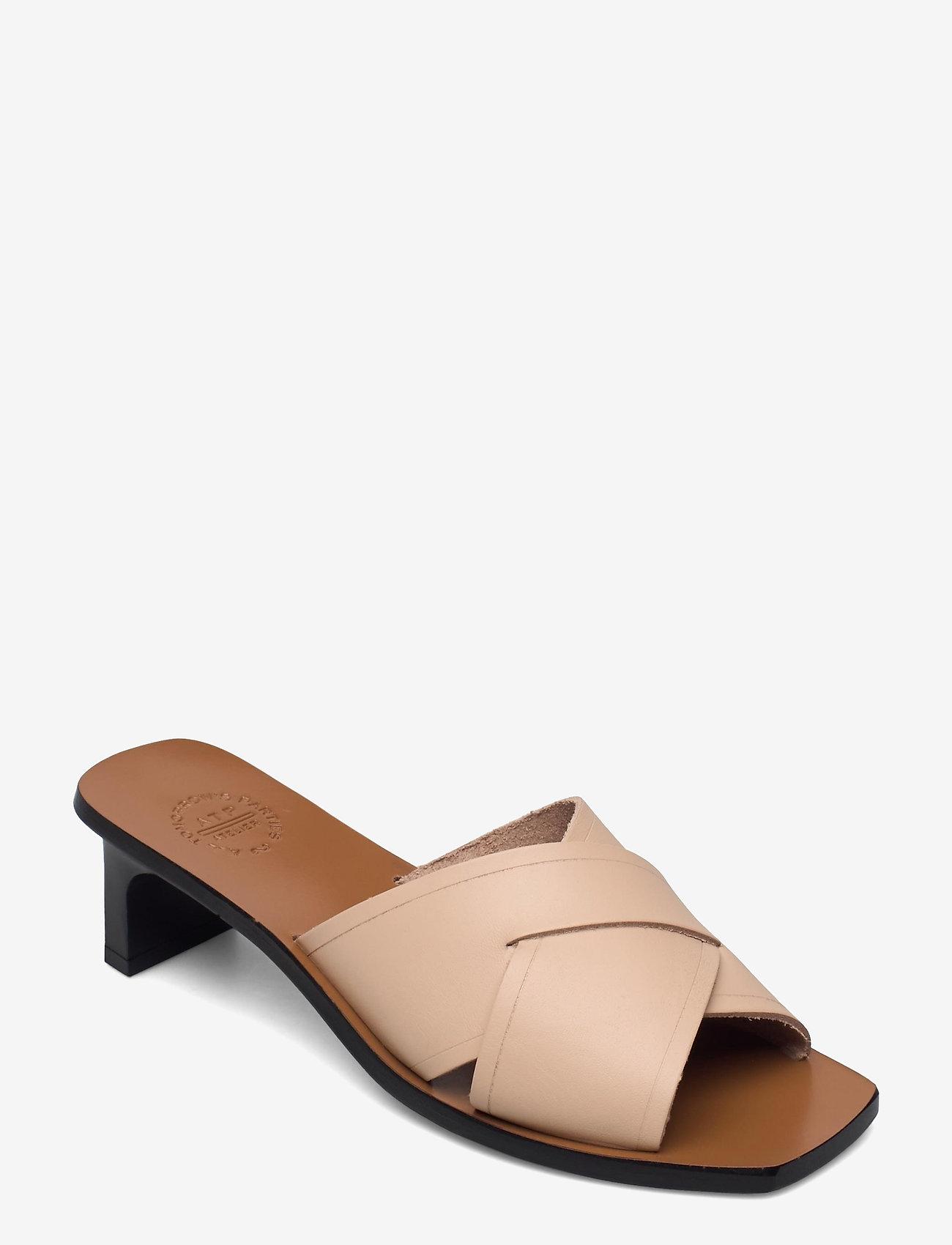 ATP Atelier - Stornarella Sand Vacchetta - heeled sandals - sand - 0