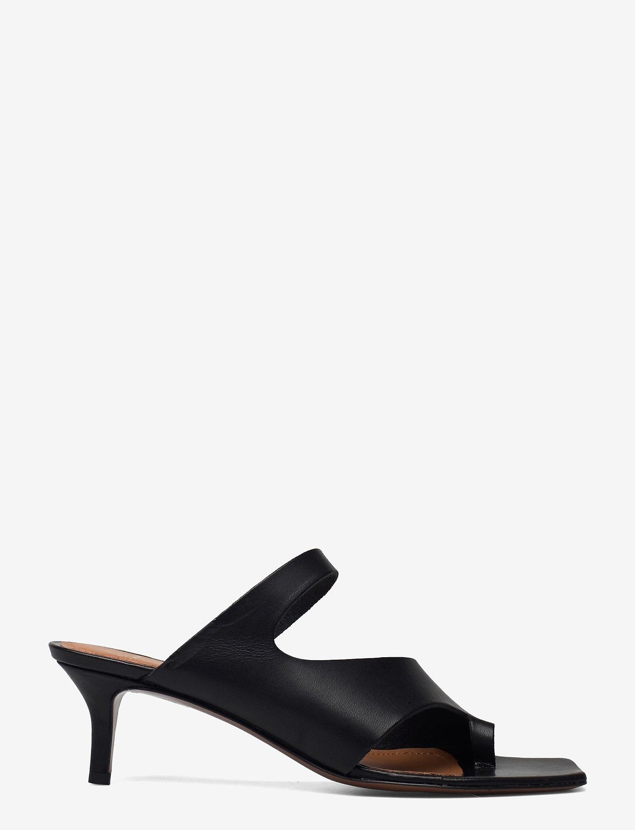 ATP Atelier - Pittuini Black Vacchetta - högklackade sandaler - black - 1