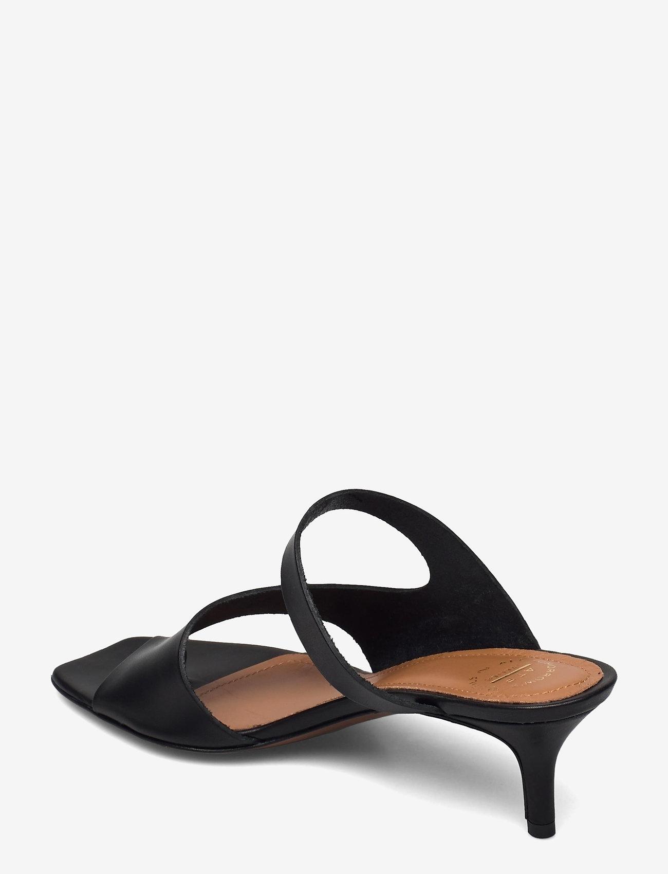 ATP Atelier - Pittuini Black Vacchetta - högklackade sandaler - black - 2