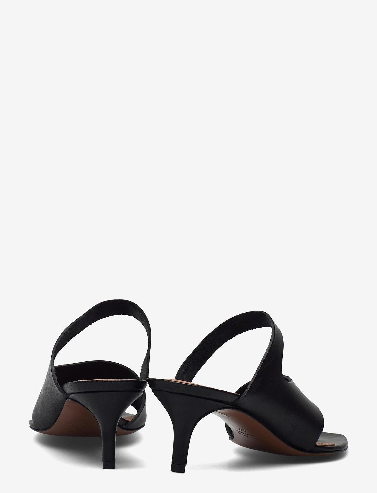 ATP Atelier - Pittuini Black Vacchetta - högklackade sandaler - black - 4