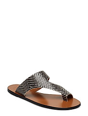 Roma Black White Dot Printed Snake - BLACK WHITE DOT PRINTED SNAKE