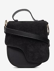 ATP Atelier - Carrara Black Suede/Vacchetta - shoulder bags - black - 0