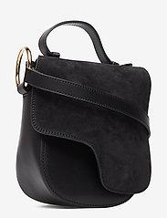 ATP Atelier - Carrara Black Suede/Vacchetta - shoulder bags - black - 2