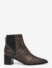 ATP Atelier - Donaci Dark Green Printed Snake - heeled ankle boots - dark green - 1