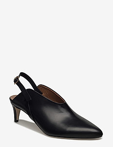 Abra Vacchetta - sling backs - black