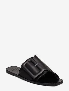 Ceci Black Vacchetta - flate sandaler - black