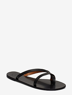 Anise Black Vacchetta - platta sandaler - black