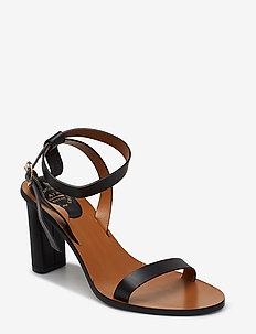 Soave Black Vacchetta - högklackade sandaler - black