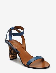 Soave Sky Blue/Terra Vacchetta/Printed Snake - högklackade sandaler - sky blue/terra vacchetta/printed snake