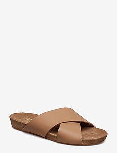 Doris Almond Vacchetta - platta sandaler - almond