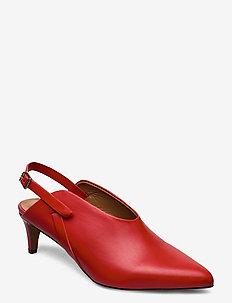 Abra Vacchetta - sling backs - tomato red