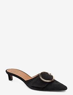 Alanno Suede - høyhælte sandaler - black