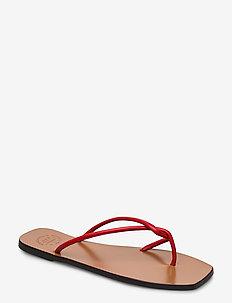 Alessano Tomato Red Nappa - platta sandaler - tomato red