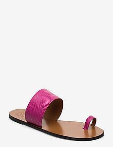 Astrid Fuxia Printed Watersnake - platta sandaler - fuxia