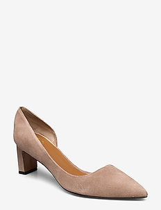 Carmiano Suede - klassiske pumps - rose