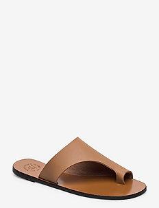 Rosa Almond Vacchetta - platta sandaler - almond