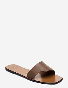 Cursi Vacchetta - flate sandaler - khaki brown