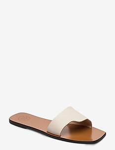 Cursi Ice White Vacchetta - platta sandaler - ice white