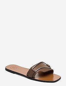 Urmo Khaki Brown Vacchetta - platta sandaler - khaki brown