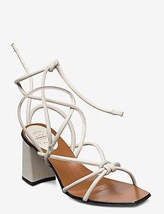 Andria Nappa - högklackade sandaler - ice white