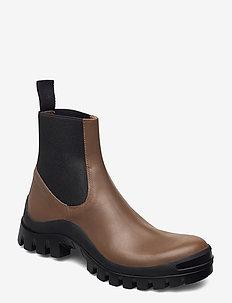 Catania Vacchetta - ankelstøvler med hæl - khaki brown