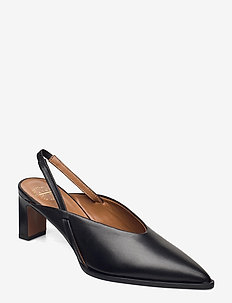 Capoiale Black Vacchetta - sling backs - black
