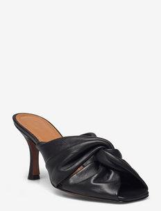 Viole Black Nappa - højhælede sandaler - black