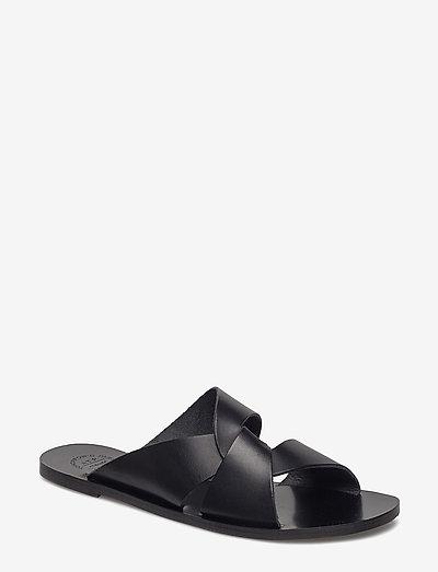 Allai - platta sandaler - black