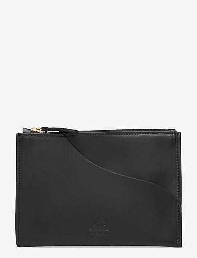 Tino Black Vacchetta - plånböcker - black