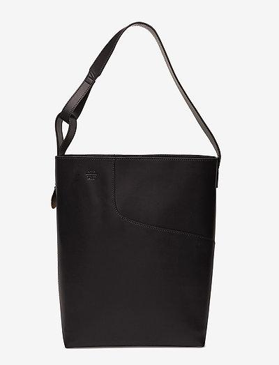 Pienza Black Vacchetta - shoppers - black
