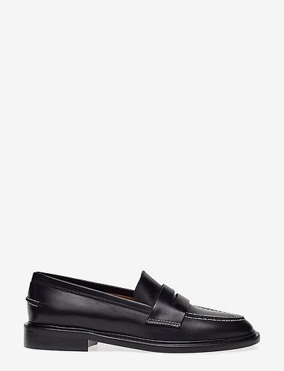 Monti Black Vacchetta - loafers - black