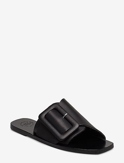Ceci Black Vacchetta - platta sandaler - black