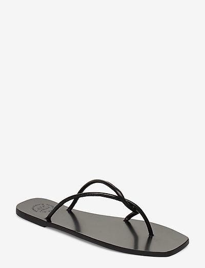Alessano Black Nappa - platta sandaler - black