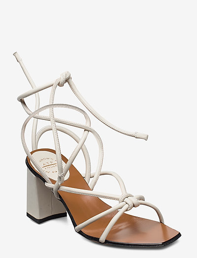 Andria Nappa - sandały na obcasie - ice white