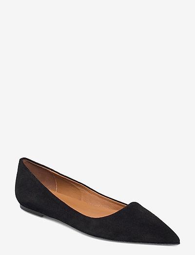 San Cataldo Black Suede - skor - black