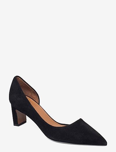 Carmiano Black Suede - pumps - black