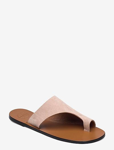 Rosa Sand Suede - platta sandaler - sand
