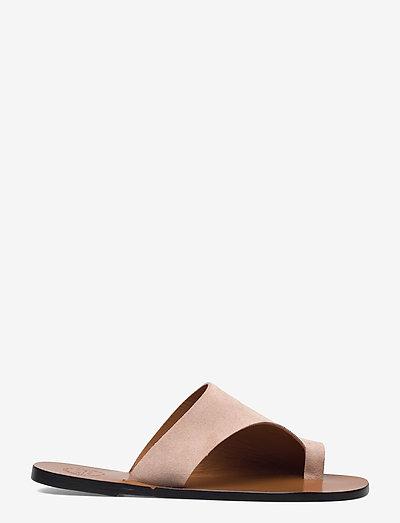 Rosa Sand Suede - płaskie sandały - sand
