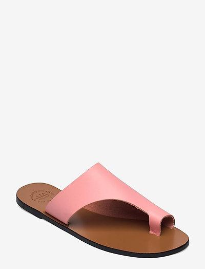 Rosa Candy Pink Vacchetta - płaskie sandały - candy pink