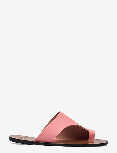 Rosa Candy Pink Vacchetta - platta sandaler - candy pink