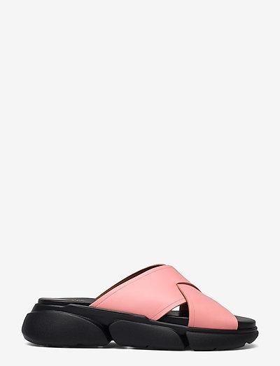 Sovereto Candy Pink Vacchetta - platta sandaler - candy pink