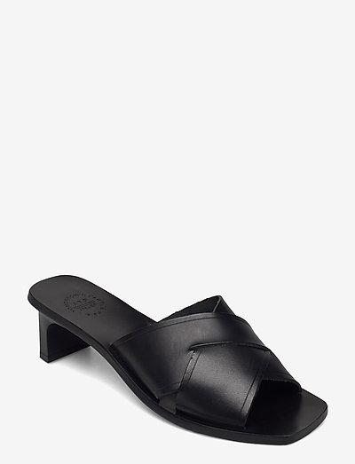 Stornarella Black Vacchetta - sandalen mit absatz - black