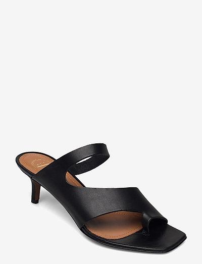 Pittuini Black Vacchetta - platta sandaler - black
