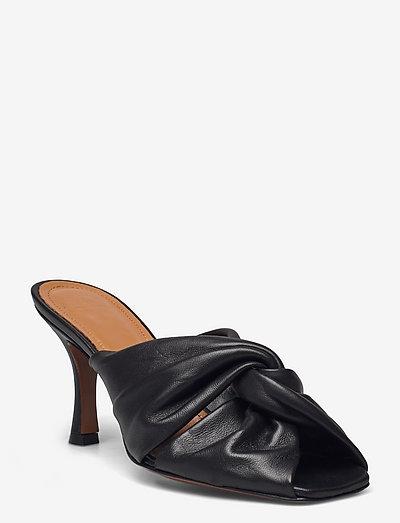 Viole Black Nappa - sandały na obcasie - black