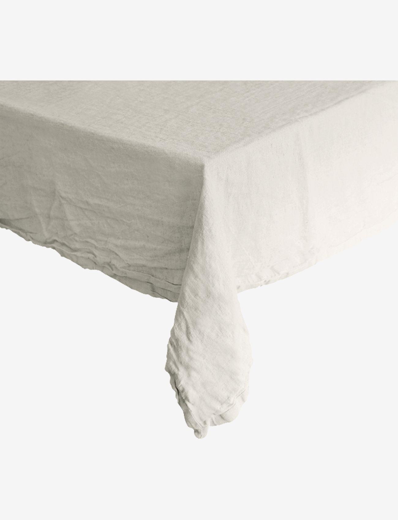 Au Maison - Table cloth Linen Basic Washed - duker & løpere - white - 0